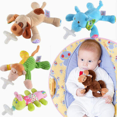 1Pc Cute Animal Baby Nipple Infant Silicone Pacifier with Cuddly Plush
