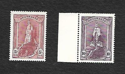 5/- & 10/-Robes Thick Paper Mint Hinged --Well Centred-Hi C/v