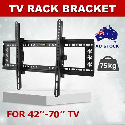 "42-70"" inch LCD LED Plasma TV XL Large Slim Tilt Wall Mount Bracket Up to 75kg"