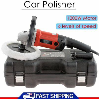 Car Polisher Buffer 1200W 180MM Buff Pad Sander Electric Tools Variable Speed AU