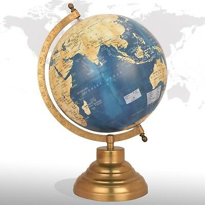 "8"" Rotating World Map Globes Table Decor Ocean Geographic​Al Earth Desktop Globe"