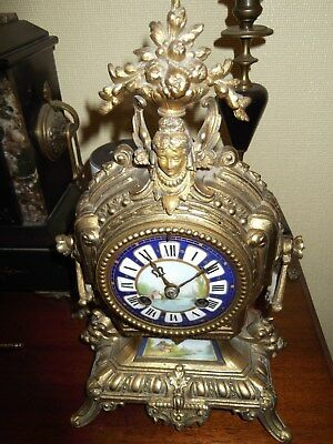 Beautiful Antique French  Mantel Clock, 8 Day Striking makers R&C