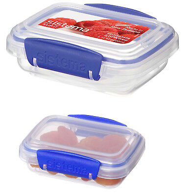 Sistema Klip It Dry Food Storage Container Clear Blue Clips 200ml