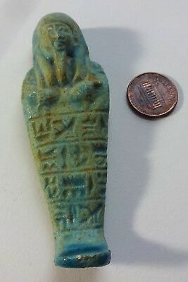 Antique Fiance Clay Egyptian Mummy Figurine Victorian Grand Tour 1920s Antiquiti