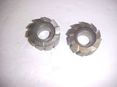 "Milling Cutters 2 1/4 Dia With 1"" Hole Rh Hss Shell Mills 2 Pcs, Free Shipping"