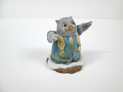 "Vintage Fitz & Floyd Holiday Hamlet ceramic Owl figure ""The Parson"" 1993"