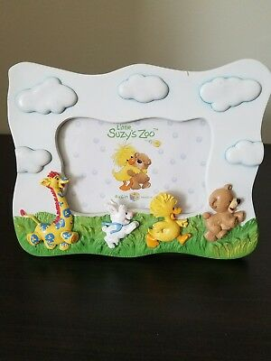 Vintage Little Suzy's Zoo Baby Picture Frame, 4 X 6 Photo