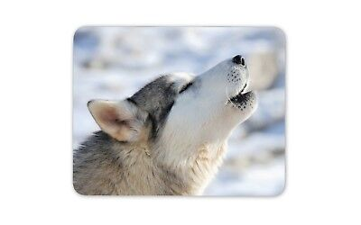 Howling Husky Dog Mouse Mat Pad - Wolf Animal Wild Wolves Gift PC Computer #8556