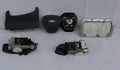 Airbag Set Kit Ford Fiesta Mk7 Vii 2008- Driver Passenger Knee Airbag Seat Belts