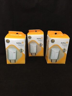 Safety 1st Outlet Cover With Cord Shortener, Protect Baby, New, 3 pack, 218