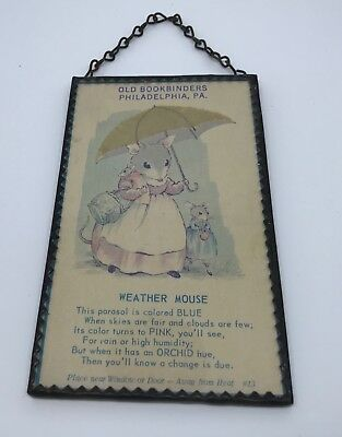 vintage advertising hydroscope card framed