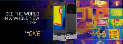 FLIR ONE Thermal Imaging Camera iOS Silver iPhone X 8 7 6 See HEAT COLD! G3 NEW