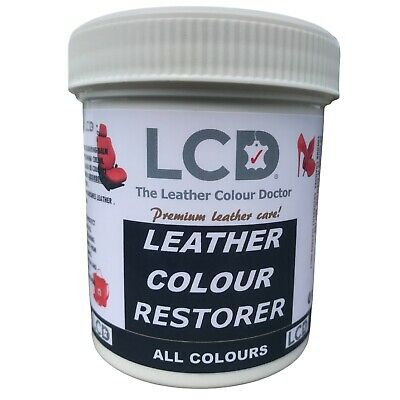 Black leather re-colouring restorer balm leather dye restores colour and shine