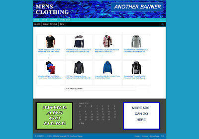 Mens Clothing Store / Website With New Domain And Hosting - Easy Home Business