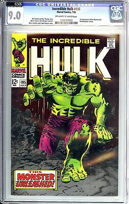 Incredible Hulk 105 CGC 9.0 Off White to White Pages