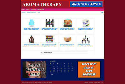 Aromatherapy Supplies Store And Uk Affiliate Website With Free Domain + Hosting