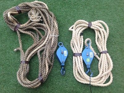 Pulley Rope Lifting Block Tacle Hoist Scaffold Tower Rigging