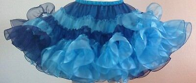 Chinese Blue And Navy Multi Crystal Square Dance Petticoat By Evas Petticoats