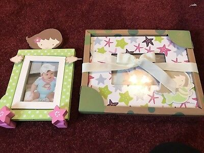 Baby Girl Green And Pink Mermaid Picture Frame Set