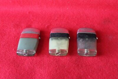 Mixed Lot Of Three Vintage Scripto Vue Lighters From The 60's