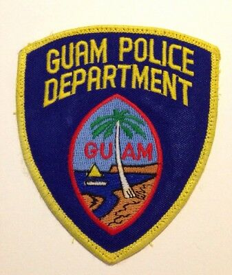 Guam  Police Patch   Very Nice!!   Free Shipping!!!
