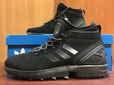 best service 36a55 34cf4 ADIDAS ZX FLUX Winter Boots For Men In Black with Original Box (84-33)