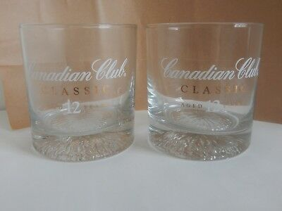 Two New Canadian Club Classic Aged 12 Years Whisky Glasses