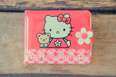 Vintage Hello Kitty Sanrio Vinyl Plastic Snap Wallet, Rare Kitty and Teddy 1999