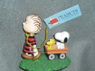 PEANUTS Wagon walk BABY SNOOPY Linus Woodstock VINTAGE Collector Figurine NWT