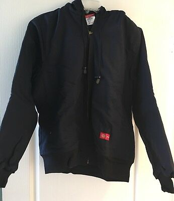 Dickies FR Flame Resistant Small Navy Duck Coat w Hood New w Tags