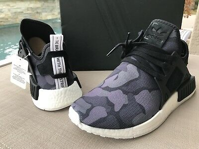 new arrival 7f3f0 5fd5a Adidas MENS NMD XR1 Camo Pack Core Black White BA7231 Size 9