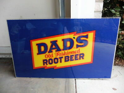 1980s Dads Old Fashioned Root Beer Large Logo Light Panel Vending Store Sign @@
