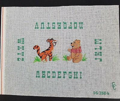 Hand Painted Needlepoint Canvas ABC Sampler Winnie the Pooh Canvas Connections