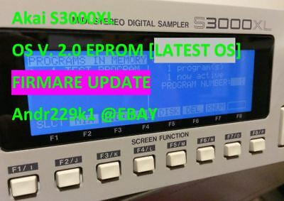 Akai S3000XL firmware 2.0 Eprom Upgrade *Latest OS*