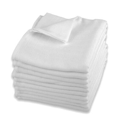 New Large Muslin Squares 80x70 100% Cotton Baby Cloth Bib Reusable Nappy Wipes