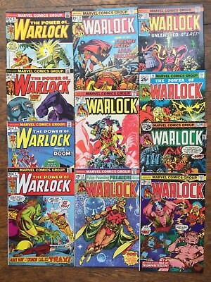Warlock #s 4,5,7,8,9,10,11,12,13,14,15,Thanos-VG/Fine,Combined Shipping