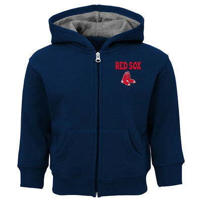 Boston Red Sox Toddler Kids 2T 3T 4T  Full-Zip Embroidered Hooded Sweatshirt