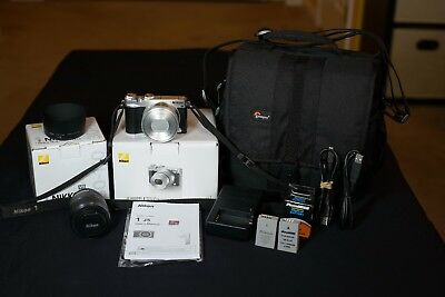Nikon 1 J5 20.8MP Digital Camera - Silver (Kit w/ PD 10-30mm AND 30-110 Lenses)