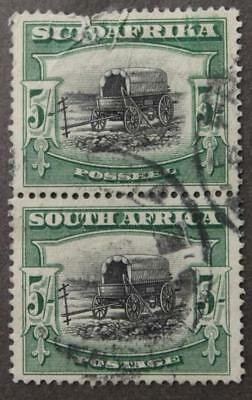 South Africa #31c Used, Perf 14 x 13.5, Faulty Top Stamp But Still Rare, 1927-28
