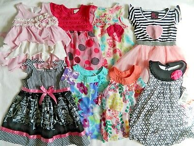 Lot of 8 Girls size 24 mth 2T Tops Dresses Summer Clothes