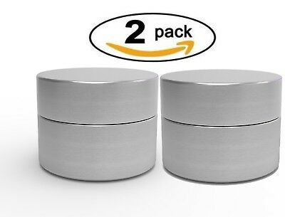 Set Of 2 Herb Container Airtight Smell Proof Aluminum Stash Jar Weed Bud Storage