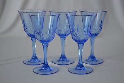 5 Avon American Classic Collection Blue Water Goblets