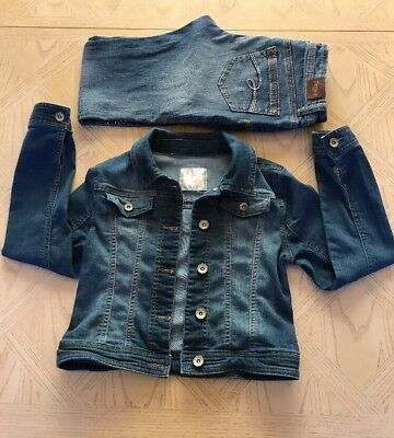 Lot Justice Denim Jacket + Jeans Size 10