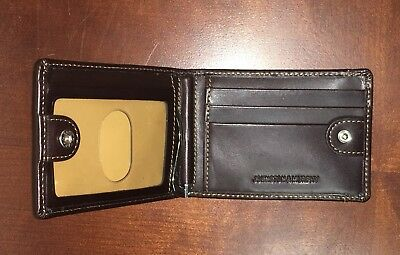 Johnston & Murphy Bi Fold wallet mens with snap closure and metal money holder