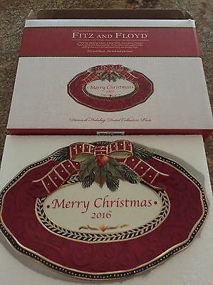 Fitz & Floyd Damask Holiday 2016 Collector's Tray  Item #786-4800 NIB