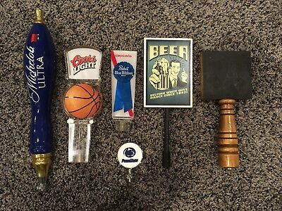 Lot of Used beer tap handles 5 Total Michelob Ultra Coors Light Pabst Chalkboard