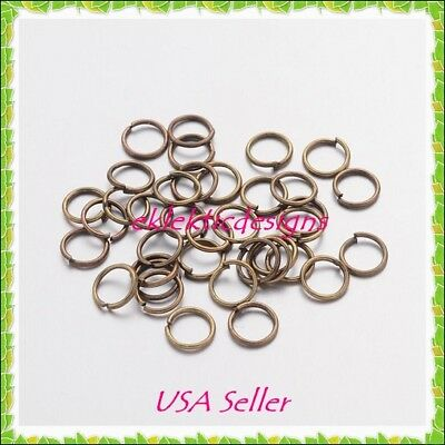 5mm 150pcs Antique Brass Bronze Jump Rings Jewelry Findings Open Split Earrings