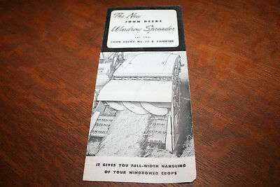 John Deere New Windrow Spreader for 12-A Pull Type Combine Brochure 1953!