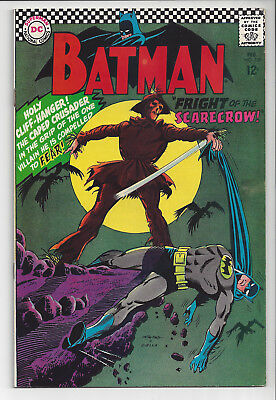 BATMAN: #189: Feb 1967: Silver Age 12-Cent DC Comic: Origin & 1st app Scarecrow:
