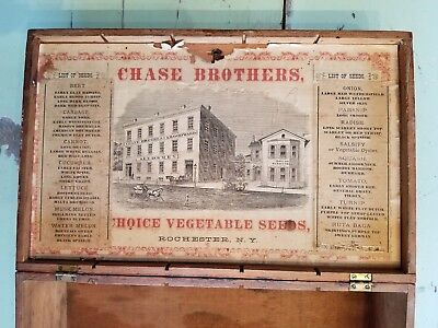 Rare Antique Chase Seed Display Box